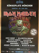 IRON MAIDEN - 2.8.2018 ROCKAVARIA - orig.Concert Poster - Konzert Plakat  A1 NEU