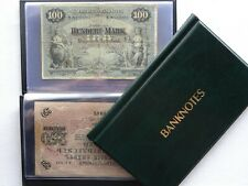 BANKNOTE ALBUM WALLET STORAGE BOOK ,FOLDER FOR BANKNOTES ( GREEN )