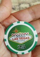 $25 Las Vegas Welcome to Las Vegas Nevada Poker Chip - Quantity 1 • NEW • Unused