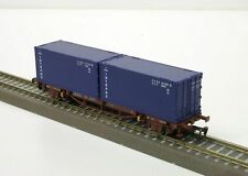 """47716 PIKO Containertragwagen Lgs579 """"Intrans"""" Spur TT"""