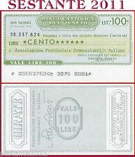 BANCA CATTOLICA DEL VENETO Lire 100 29.10. 1976 ASSOC. COMMERCIANTI BELLUNO B172