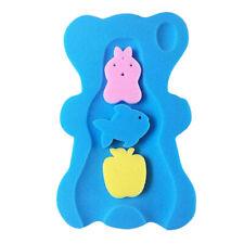 Baby Bath Sponge Bed Bath Cushion Safety Foam Comfy Bathroom Shower Mat Blue