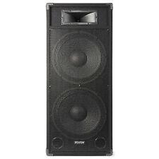 "Double 15"" Active Powered PA DJ Speaker Disco Sound System Fenton Csb215 1600w"