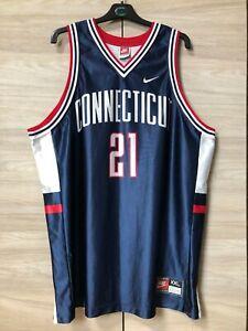 UConn Huskies Connecticut 1997 Ricky Moore #21 Vintage Basketball Jersey Shirt