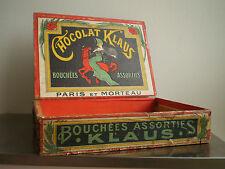 BOITE CAISSE CHOCOLAT KLAUS AFFICHE de CAPPIELLO PUBLICITAIRE DECO MAGASIN 1900