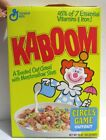 vintage Kaboom Cereal Box series 57 Circus Game Elephant Bear Seal Clown
