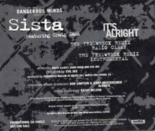 Sista: It's Alright PROMO MUSIC AUDIO CD Craig Mack Fredwreck Remixes MCA5P-3579