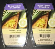 2  BETTER HOMES & GARDENS Aromatherapy Wax Melts VETIVER & LEMON 2.5 Oz Each