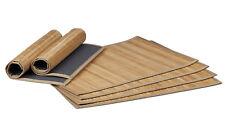 Tischset 6-teilig Platzdeckchen Bambus Platzset Untersetzer Tischläufer Natur