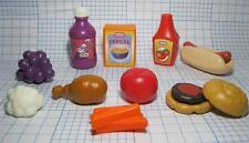 LITTLE TIKES Kitchen Toy Dishes Play food-GRAPES JUICE CEREAL CARROTS HAMBURGER+