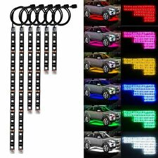 18 Color 6x RGB Strip Motorcycle ATV Flexible String LED Light Lamp NEON Kit
