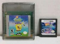2 SpongBob Squarepants Games Nintendo DS Game Boy Color Lost Spatula Atlantis