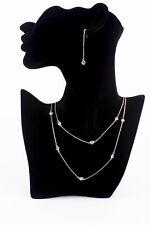 NWT 3 Piece Infinity Crystal Silver Plated Designer Ladies Bridal Jewellery Set