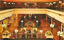 Warwick RI~Midland Shopping Mall~Interior~Jack's~Sears~Gift House~1960s Postcard