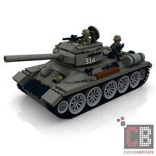 CUSTOM PDF Bauanleitung WW2 WWII Sovjet T34-85 Panzer Tank für LEGO® Stein
