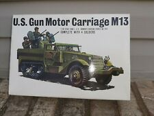 BANDAI US GUN MOTOR CARRIAGE M13 SCALE 1:48 #058283 Nos complete model VINTAGE