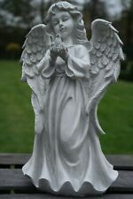 Engel Figur Dekofigur wetterfest Grabdeko Grabschmuck Grabengel Dekoengel grau