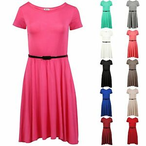 Girls Skater Dress Kids Party Dresses Belted New Age  5/6 TO 13 Years  SCD
