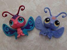 Littlest Pet Shop RARE Butterfly #3523 2740 Blue Purple Pink Paw Print Paint LOT