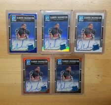 (5) DeAndre Washington 2016 Panini Donruss OptiC Refractor RC AUTO LOT rainbow