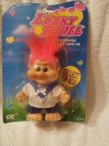 LUCKY TROLLS (I.T.B.)  Happy Troll Sailor Suit   NEW ON CARD