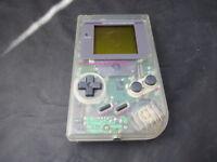 Nintendo Game Boy DMG-01 Transparent Clear Handheld Games Console