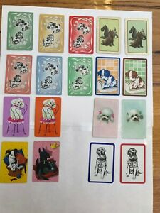 18 vintage playing cards DOGS Cute SCOTTIES swap cards PUPPIES Art Deco RETRO