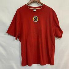 Fernando Llort St. Jacks Mens Red Crew Neck Short Sleeve Graphic T Shirt Size XL