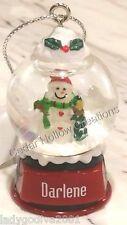 Personalized Snow Globe Ornament - Darlene - FREE Shipping