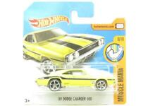 Hotwheels 69 Dodge Charger 500 Muscle Mania Yellow Short Card 1 64 Scale Sealed