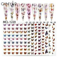 3D BUTTERFLY HOLOGRAPHIC ADHESIVE NAIL DESIGN STICKERS NAIL DECALS.