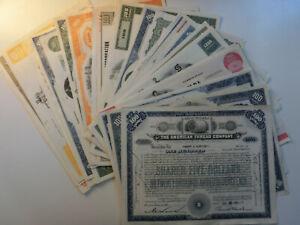 33 Stück amerikanische Wertpapiere