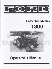 Ford Tractor Series 1300 Owner Manual Diesel 1979 1980 1981 1982 Operators Book