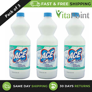 Ace for Whites Laundry Bleach With Fiber Protection System 1 Litre / Pack Of 3