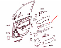 MERCEDES-BENZ ML W166 Front Right Door Trim Strip A1667202622 NEW GENUINE