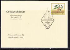 Australia 1983 Congratulations Australia 11 America's Cup Apm13990 Cover