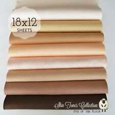 "NEW Perfect SKIN TONES Felt Collection Merino Wool Blend Felt 8- 12 X 18"" Sheets"