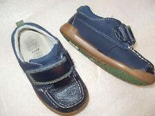 Clarks Garçons Premier Chaussures 5 g bleu cuir qualité poli et bon pour aller
