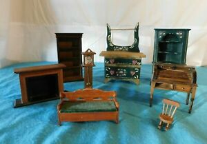 Antique Toleware Corner Hutch Wash Stand Dutch Kurt S Adler Dollhouse Furniture
