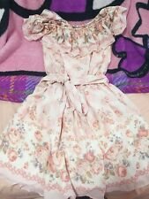 Liz Lisa Shibuya 109 Gyaru Japan One Piece Pink Off shoulder Pink Picnic dress