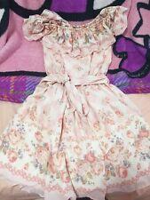 Liz Lisa Shibuya 109 Gyaru Japan One Piece Pink Off shoulder Pink Picnic dress