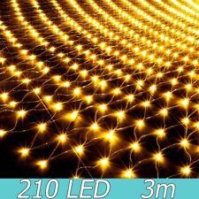3x2M LED Net Lights Garden Mesh Curtain Christmas Tree Wedding Party Decor