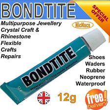 12g Bondtite Glue Multipurpose Jewellery Crystal Craft Rhinestone Shoes Repair