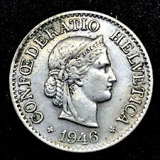 SWITZERLAND 1946 B 10 Rappen  KM#27 Copper/ Nickel. Rare!