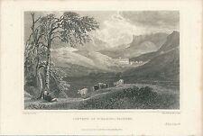1823 CONVENT S.T MARINO (Martino) PALERMO Peter De Wint acquaforte Major Light