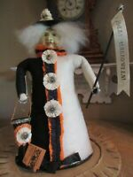 Bethany Lowe - Dee Foust Retired 21 inch Tall Halloween Witch Felt-Crepe Paper