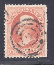 U.S. STAMP #183—  2c Jackson - 1879 — USED + CERTIFICATE