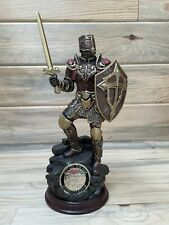New ListingBradford Exchange Armor Of God Cold Cast Bronze Sculpture With Challenge Coin