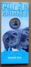 2013 POLAR ANIMALS AUSTRALIAN $1 UNC COLOUR PRINTED COINS - WEDDELL SEAL