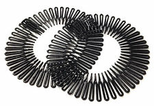2 Black Flexi Comb Headband Elasticated Gym Mens Hair Accessory